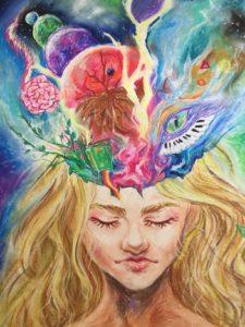 malba: 15-ti letá dcera autorky článku Xannat